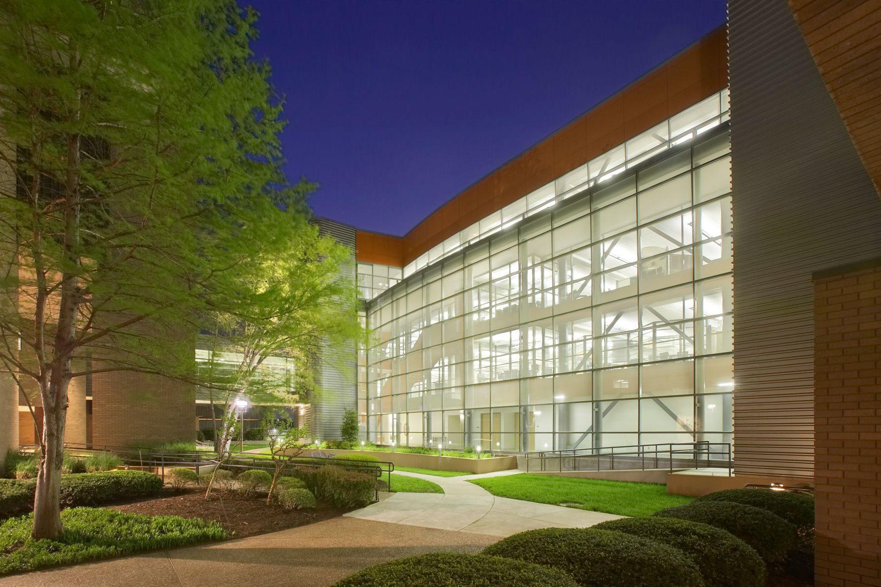 Tyson Discovery Center Exterior Night